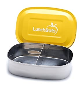 LunchBots Pico Stainless Steel Food Container, Yellow