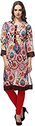 Vedanta Women's Regular Fit Georgette Kurta (KAGRGCLKPR02_MULTI_M, Multi-Coloured, Medium)