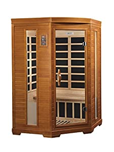 : DYNAMIC SAUNAS AMZ-DYN-6225-02 Bilbao 2-Person Corner Far Infrared ...