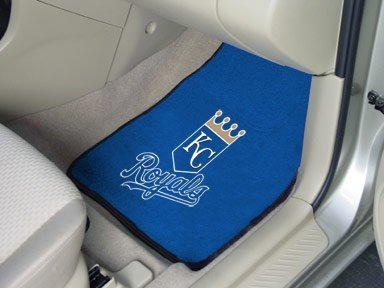 Kansas City Royals Mlb 2-Pc Printed Carpet Car Mat Set 18X27 front-675772