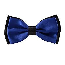 Contrasting Colors Pre-tied Mens Adjustable Bow Ties (Royal Blue)