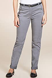 Per Una Cotton Rich Slim Leg Chinos with Belt