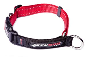 EzyDog Checkmate Martingale-Style Dog Collar, X-Large, Red