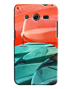 Blue Throat Paint Effect Printed Designer Back Cover/ Case For Samsung Galaxy Core 2