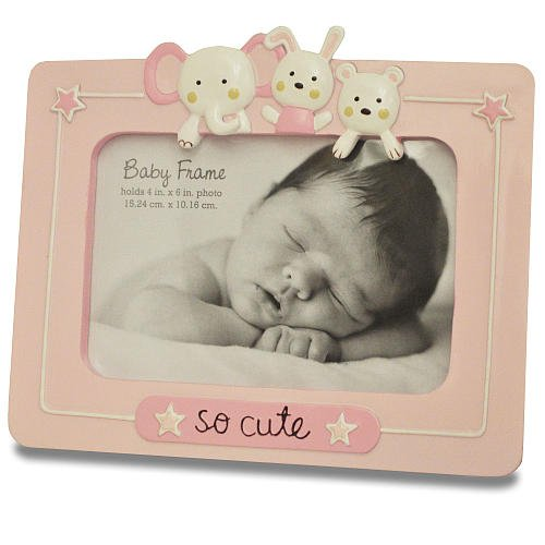So Cute 4 In X 6 In Resin Frame - Pink front-782128