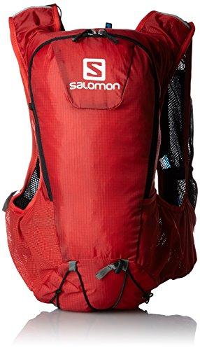 Salomon-Zaino Skin Pro Uomo, Uomo, Rucksack SKIN PRO, Bright Red/Black, taglia unica