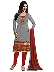 Nilkanth Enterprise Grey Dress Material