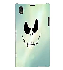 PrintDhaba Scary Face D-3439 Back Case Cover for SONY XPERIA Z1 (Multi-Coloured)