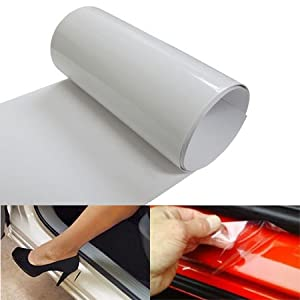 6 by 60 inches clear door sill paint protection scratch film vinyl sheet automotive. Black Bedroom Furniture Sets. Home Design Ideas
