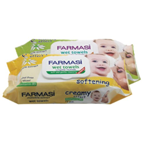 Farmasi Baby Wet Wipes with Lid, 8 Ounce (Pack of 6)