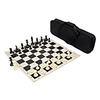 Heavy Tournament Triple Weighted Chess Set Combo - Black