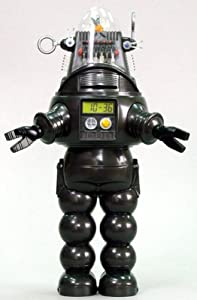 """10"""" Forbidden Planet Robby the Robot Electronic Talking Coin Bank and Alarm Clock"""