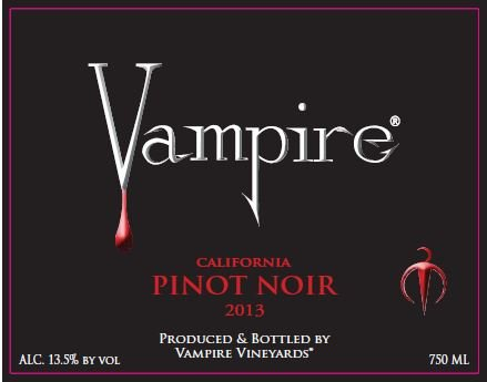 2013 Vampire Pinot Noir 750 Ml