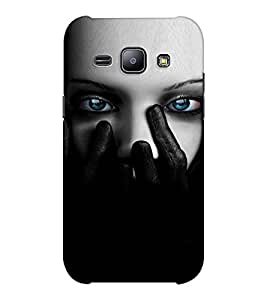 EPICCASE Scary Girl face Mobile Back Case Cover For Samsung J1 Ace (Designer Case)