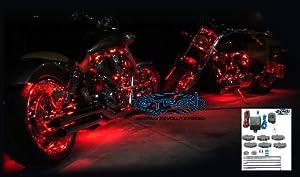 platinum led motorcycle accent lighting kit red led household light. Black Bedroom Furniture Sets. Home Design Ideas