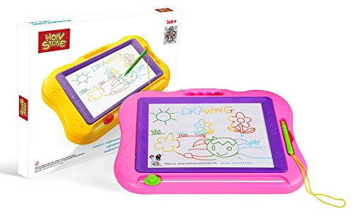 Holy-Stone-Magnetic-Drawing-Board-Colorful-Erasable-Doodle-Pad-Large-Travel-Size-for-Kids-and-Toddlers-Color-Pink