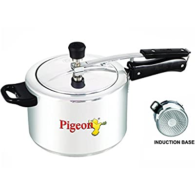 Pigeon Favourite Alluminum Pressure Cooker with Inner Lid, 3 Litres, Silver