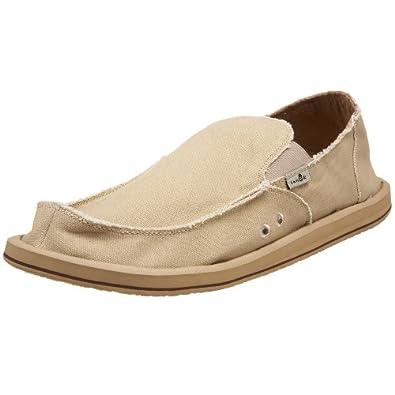 Sanuk Men's Vagabond Slip-On Loafer, Khaki, 13 M US