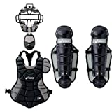 アシックス キャッチャーズギア4点セットBタイプ ブラック×シルバー(少年軟式用キャッチャー防具)