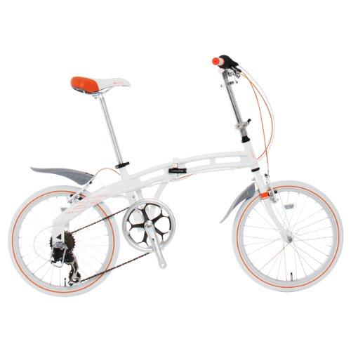 DOPPELGANGER(ドッペルギャンガー) 213 bellissima 20インチ アルミフレーム 折りたたみ自転車 シマノ7段変速 昇降式アルミハンドルステム フロント・リア泥除/LEDライト/ワイヤーロック標準装備