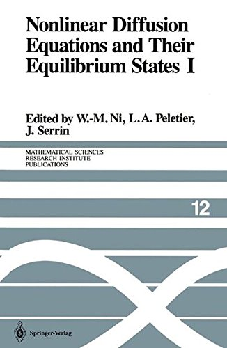 Nonlinear Diffusion Equations and Their Equilibrium States I: Proceedings of a Microprogram held August 25-September 12,