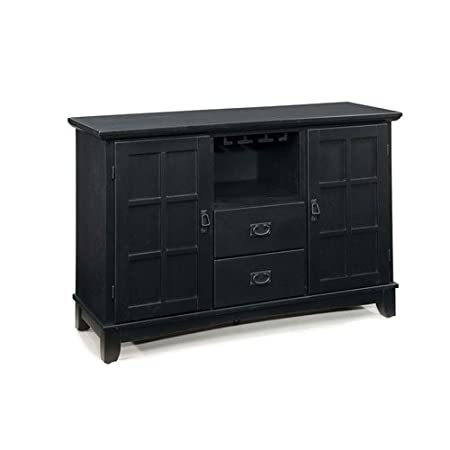 Home Style 5181-69 Arts and Crafts Dining Buffet, Black Finish