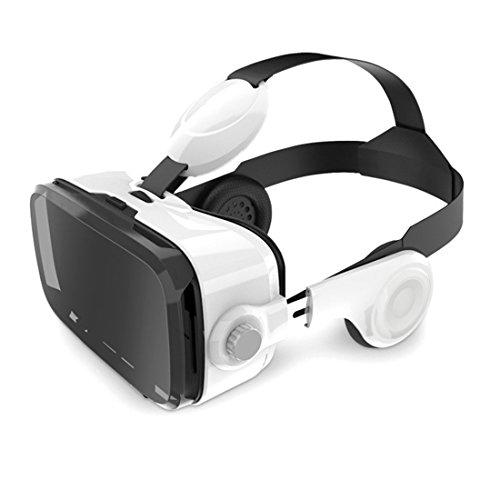 Leelbox le plus dernier VR 3D VR Box de réalité virtuelle et casque intégré Capable de répondre à des appels, régler le volume, une pause de lecture sans prendre le téléphone comparable avec iphone Samsung LG et autres téléphones intelligents