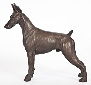 Doberman Pinscher (Standing - Cropped Ears): Cold-cast Bronze Figurine 6 Inches Long #63-054