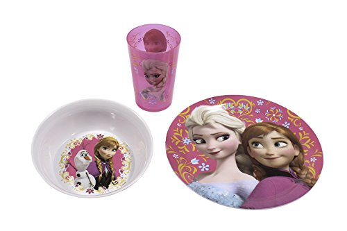 Zak! Cup, Bowl And Plate Set 8 Different Models Girls Boys Babys (Frozen)