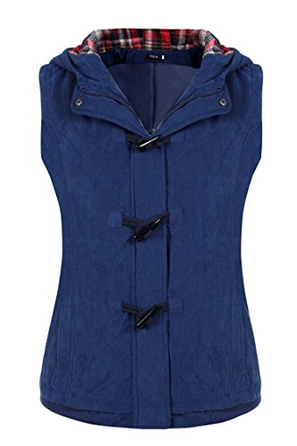 Finejo Women Autumn Winter Fashion Stylish Hooded Gilet Jacket Quilted Vest (Quilted Waistcoat compare prices)