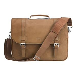 Reaction Kenneth Cole Reaction Kenneth Cole Show Business Leather Flapover Lapto from Reaction Kenneth Cole