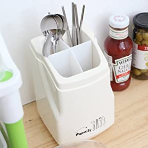 Amazon.com: Clear Plastic Flatware Utensils Caddy Kitchen Home ...