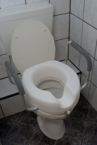 WC - Sitzerhöhung - Toilettenaufsatz - mit Armlehne, 11,5 cm