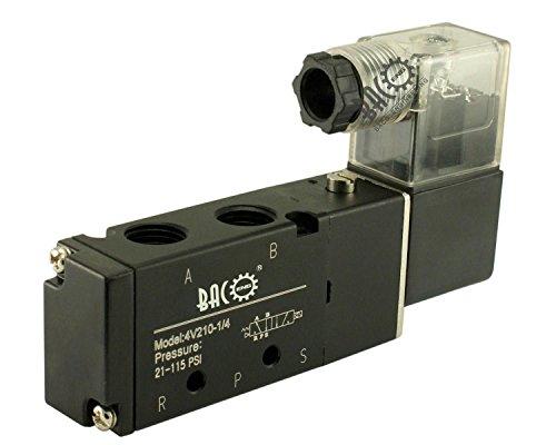 """BACOENG DC12V BSP 2 Postion 5 Wege 1/4"""" Pneumatik Mechanische Ventil Luft Magnetventil( 1/8"""" 1/2"""" 3/8"""" )"""