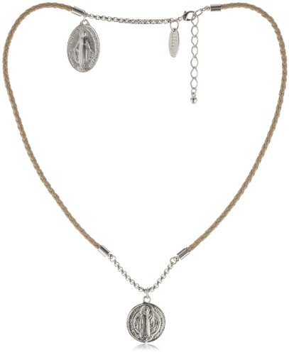 Accessories & Beyond Scapular Style Necklace With Saint Charms
