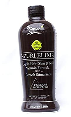 Nzuri Elixir - Liquid Hair Vitamin Plus Growth Stimulants - 32 Ounces