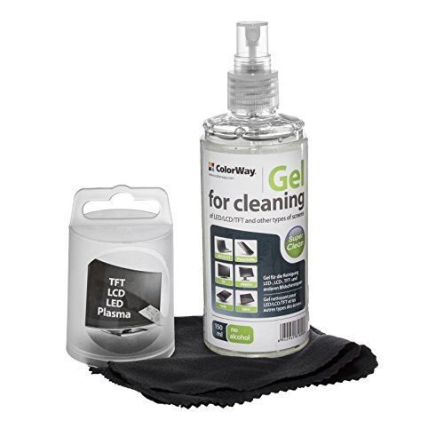 Colorway Screen Cleaning Gel Kit with Microfiber Cloth and Cleaner Gel Spray. Screen Cleaner for Laptop displays, Computer Monitors, TV's, LCD, LED, Tablets and Cleaner for other Electronics (CW-5151) (Screen Cleaner Liquid compare prices)