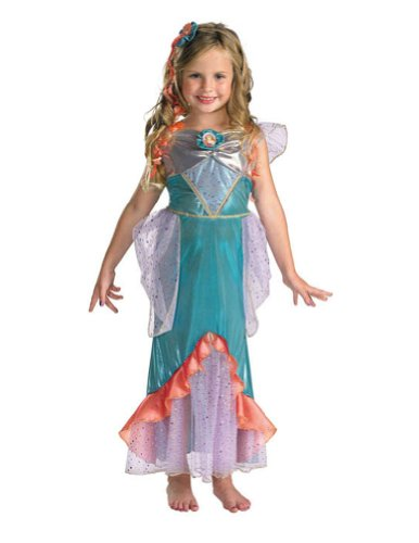 baby-girls - Ariel Toddler Costume Deluxe 3T-4T Halloween Costume