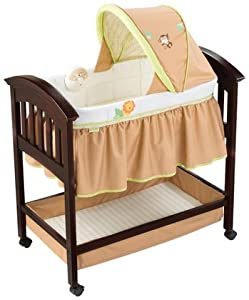 Summer Infant Swingin' Safari Classic Comfort Wood Bassinet - Espresso Stain