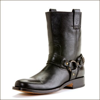 Cheap Frye men's Jesse Graphic Harness Boots Black (fymsJESSE87467blkgraph PT)