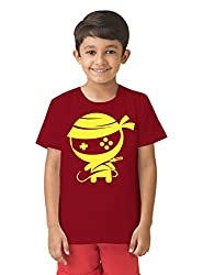 Mintees 100% Combed Cotton Boy's Graphic Print Red Colour Tshirt MBRNT10-010_2-3Yrs