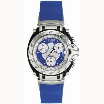 Tissot Men's T90448641 T-Sport T-Race Chronograph Blue Rubber Watch