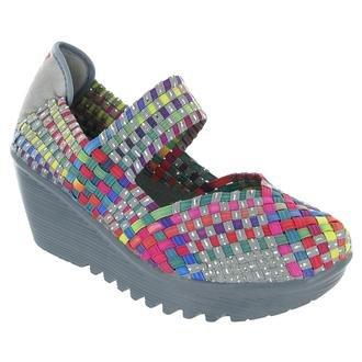 Bernie Mev Lulia Womens Casual Wedge Mary Jane Shoes Lulia-Bronze 38 Eur front-805483