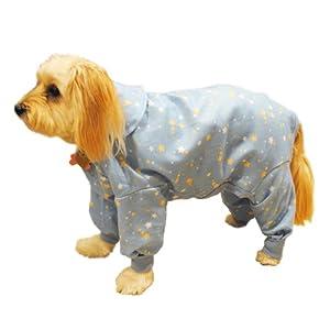 Pedigree Perfection PJF21-14-BLU Pet Threads Blue Stars Fleece Pajamas for Your Dog, 14-Size