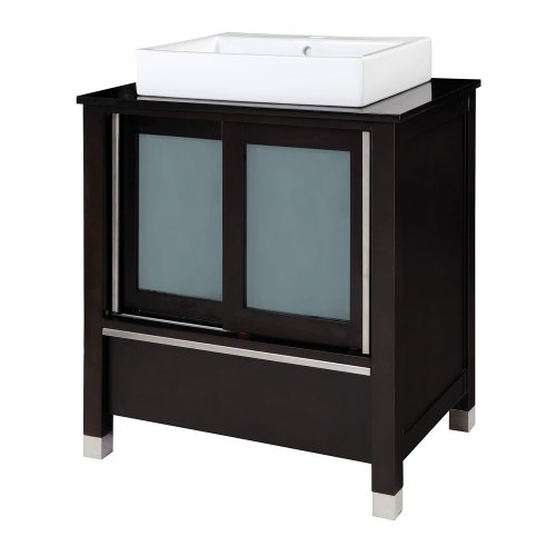 Decolav 5247-ESP Tyson 30-Inch Vanity with Granite Top and China Lavatory, Espresso
