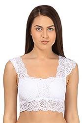 Elvin Designer White Net Bra