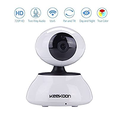 AGPtek HD video Mega pixels Wireless Indoor CCTV IR Security WIFI IP Network Camera Nightvision IR-Cut compatible with PC iPhone Samsung iPad Tablett, (1280 x 720p)Digital Zoom, plug/play, Pan/Tilt, Two-Way Audio, Mail Notification, Night Vision, Motion D