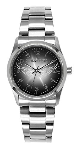Zadig Voltaire ZV &006/AM-Rock Women's Watch Analogue Quartz Black Dial Steel Strap Silver