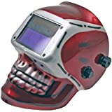 Neiko® 53932A Auto-Darkening TIG/MIG Welding Helmet | Solar and Battery Powered with Red Skeleton Design