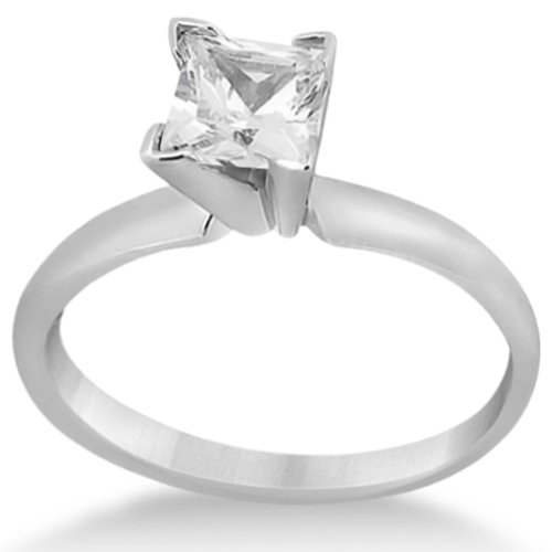 Allurez Palladium Solitaire Engagement Ring Princess Cut Diamond Setting - R 1/2